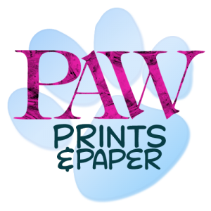PAW Print and Paper Logo for Digital Design Products