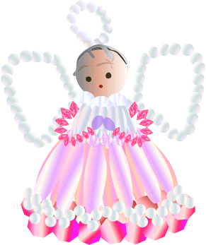 pink beaded angel ornament