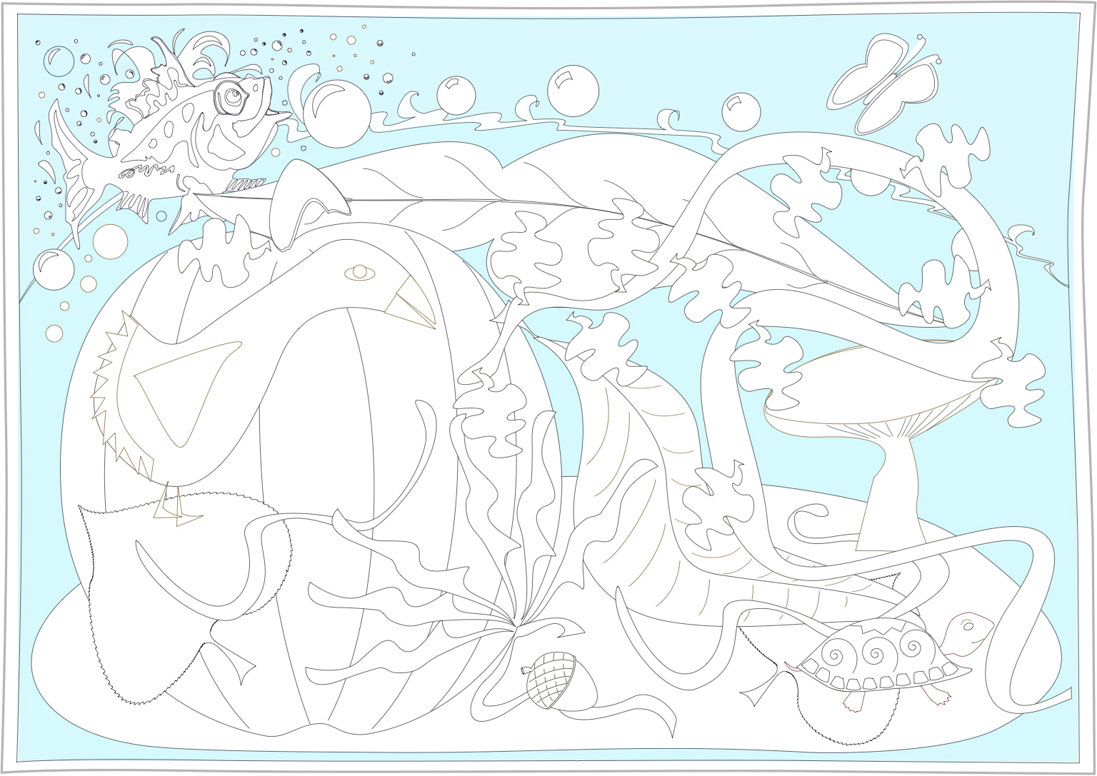 end of summer coloring pages - photo#34