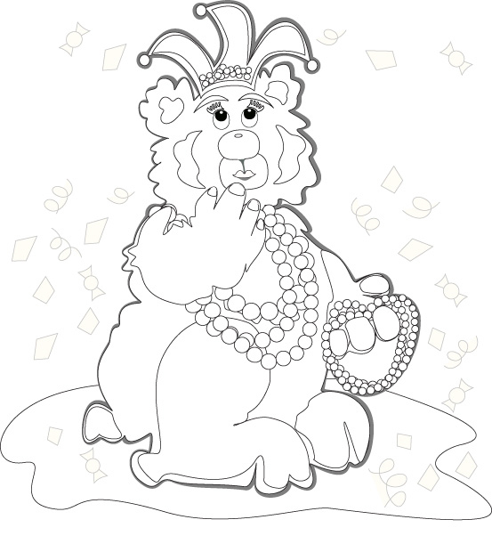 Yellow Duck Coloring Page