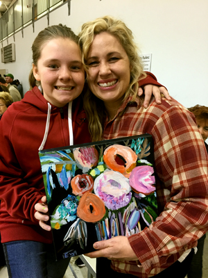 Emma painted a bouquet of flowers for her Aunt Wendy, who loves flowers.