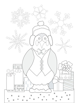 Frosty Penguin with Presents