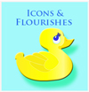 free icons and flourishes, button link